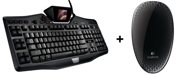 Top! Logitech Gaming-Tastatur G19 & Touch-Maus T620 für zusammen 114,49 € - 28% Ersparnis