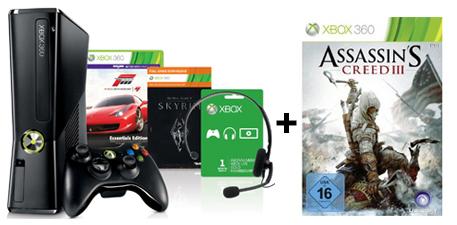Xbox 360 (250 GB) + Forza 4 + Skyrim für 174,97 € bei Amazon & 20 € sparen auf weiteres Spiel