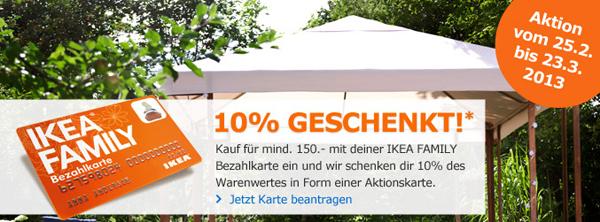 IKEA: 10% des Warenwerts als Gutschein erhalten - ab 150 € Einkauf