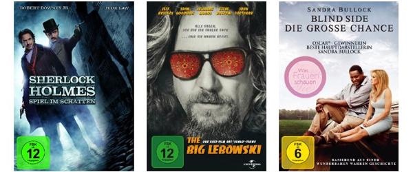 Gute Filmangebote bei Amazon - z.B. 4 DVDs für 20 € oder 3 Blu-rays für 24 €