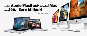 "Media Markt: 200 € Rabatt auf alle MacBooks & iMacs - z.B. 11"" MacBook Air (Mid 2012) um 949 €"