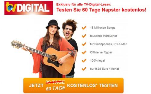 Napster: Musik-Flatrate mit Mobil-Zugriff 2 Monate komplett gratis nutzen *Update* wieder erhältlich!