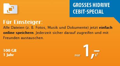 Strato: Online-Speicher mit 100 GB ein Jahr lang für nur 1 € nuzen *Update*