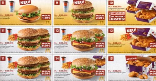 Neue McDonald's Gutscheine für Deutschland - ab 04. März 2013 gültig