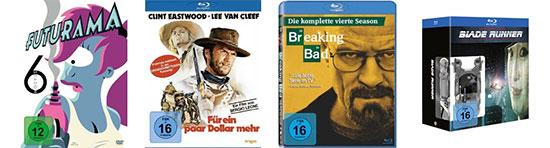 Amazon: 3 Tage Tiefpreise bei Filmen & Serien - Breaking Bad mit 40% Rabatt, Futurama Staffel 6 mit 50% Rabatt