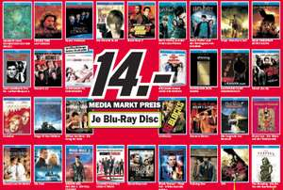 [Blu-ray] Blu-rays für 14€ im Media Markt Ravensburg