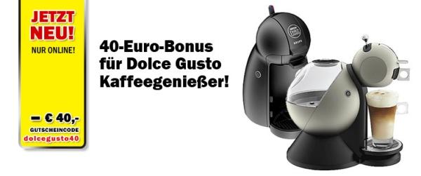Media Markt Österreich: 40-Euro-Bonus beim Kauf einer Krups Dolce Gusto Kaffeemaschine