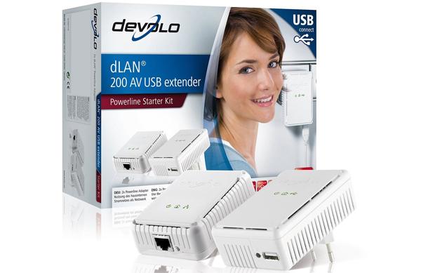 Devolo dLAN 200 AV USB extender Starter Kit für 49 € statt 100 € - 51% Ersparnis