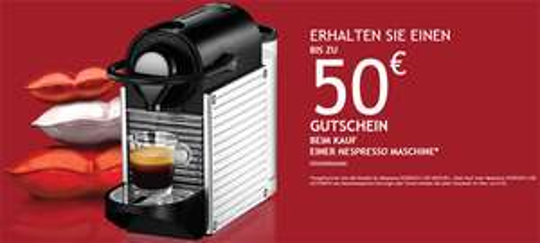 50 € Cashback beim Kauf einer neuen Nespresso-Maschine - jetzt auch in Österreich!