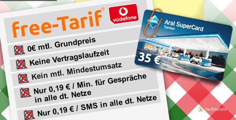 35 € Tankgutschein für 0,19 € durch kostenlosen Handyvertrag im Vodafone-Netz