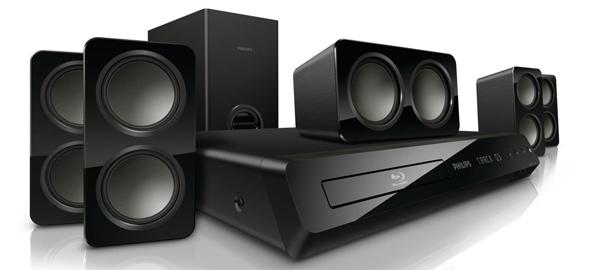 5.1 Blu-ray-Heimkinosystem Philips HTS3541 für 139,90 € - 25% Ersparnis