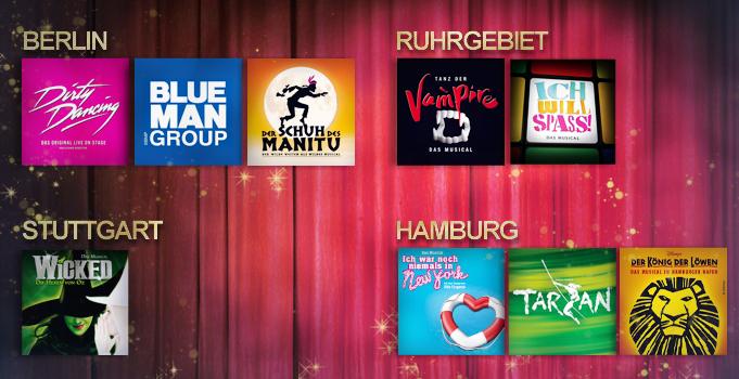 Musical Tickets für je 49€ in den höchsten Preisklassen bei vente-privee