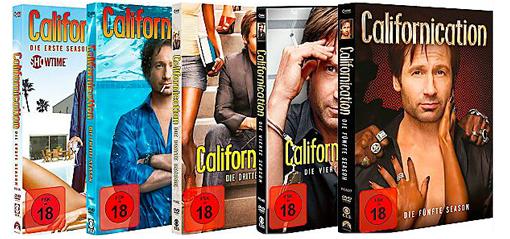 Saturn Tagesdeal: Californication Staffel 1 bis 5 für 39 € statt 54,27 € - 28% sparen