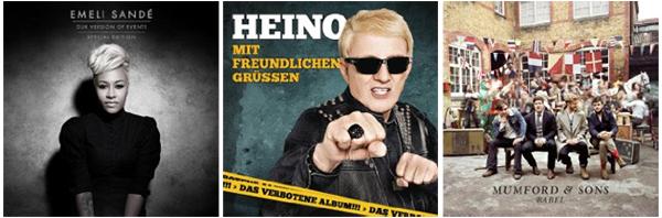 Zahlreiche aktuelle MP3-Alben für unter 5 € bei Amazon - z.B. Emeli Sandé, Bruno Mars oder Cro