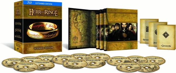 Der Herr der Ringe Trilogie (Extended Edition) als Blu-ray-Box für 49,99 € bei Libro