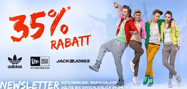 Hoodboyz: 35% Rabatt auf Adidas, Jack & Jones, New Era und nur heute auf k1x