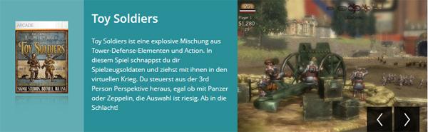 """Xbox 360: Arcade-Spiele """"Toy Soldiers"""" und """"Comic Jumper"""" gratis erhalten"""