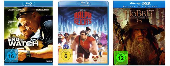 Gute Blu-ray-Angebote bei Müller und Konter von Amazon - Filme ab 7,99 €