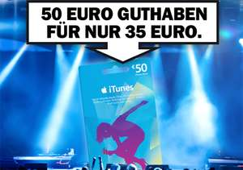 Media Markt Deutschland: 50 € iTunes-Guthaben für 35 € - 30% sparen