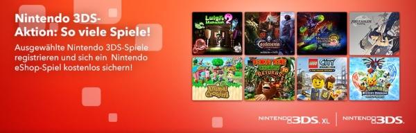 3 Nintendo 3DS-Spiele registrieren und 4. Spiel umsonst erhalten