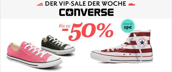 Converse VIP-Sale mit bis zu 50% Rabatt bei Sarenza