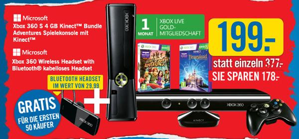 Xbox 360 Arcade Slim Kinect Disneyland Adventures Bundle für 199 € *Update* wieder erhältlich!