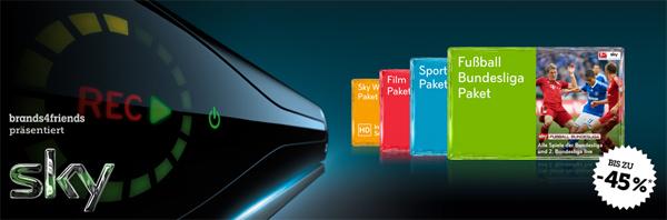 Top! Sky Komplettpaket mit Sky Go, HD-Sendern & HD-Festplattenreceiver für 34,90 € im Monat!