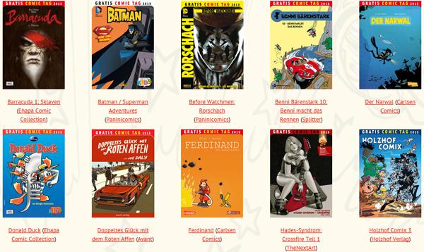 Gratis Comic Tag 2013 – Comics auch online bestellen + gratis Versand - am 11. Mai 2013! *Update*