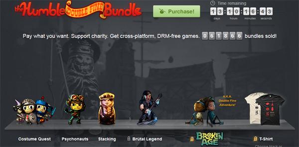 The Humble Double Fine Bundle - 3 Spiele zum selbstgewählten Preis kaufen - inkl. Psychonauts