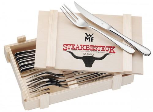 WMF 12-teiliges Steak-Besteck (in der Holzbox) für 28,51 € - 31% sparen