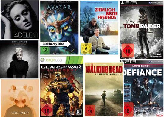 TOP - 3 für 2 Aktion auf alle Games, Musik und Filme bei Media Markt! *UPDATE* Amazon zieht mit