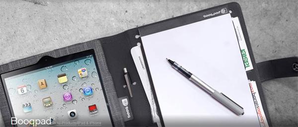 Booqpad: iPad-Tasche mit Notizblock ab 14,99 € durch 75% Gutschein *Update* jetzt für 14,90 € bei Cyberport
