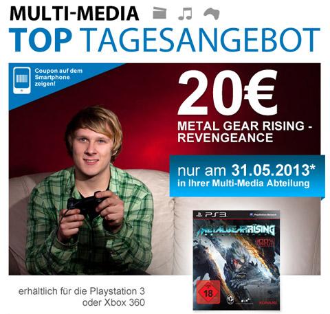 Metal Gear Rising: Revengeance (PS3, Xbox 360) für 20 € bei Müller - 40% sparen