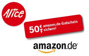 Alice DSL mit 50€ Amazon Gutschein