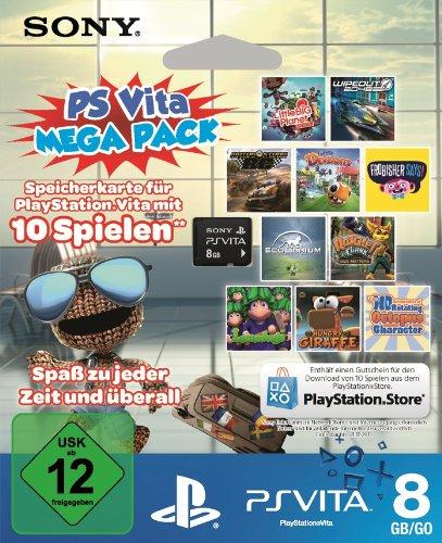 PlayStation Vita Mega Pack 1 - 8 GB Speicherkarte + 10 Spiele für 39,99 €