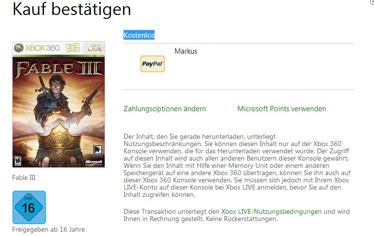 Xbox Marketplace: Fable III komplett kostenlos für Gold-Mitglieder