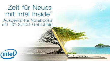 Amazon: 10% Rabatt auf ausgewählte Notebooks mit Intel-Prozessor
