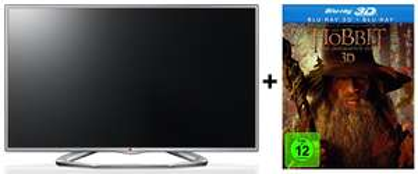 LG 47LA6136 - LED-Backlight-TV mit 3D, Triple-Tuner & MHL für 555 € + Der Hobbit 3D gratis - 24% Ersparnis