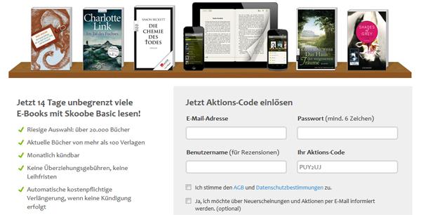Online-Bibliothek Skoobe 14 Tage kostenlos testen und unbegrenzt eBooks ausleihen