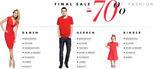 Top! Fashion-Sale bei Amazon Rabatten von 70% und mehr auf ausgewählte Artikel