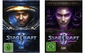 StarCraft II: Wings of Liberty für 20,97 € und Add-On für für 27,97 €