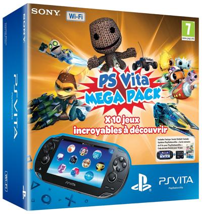 PlayStation Vita (WiFi) Mega Pack mit 10 Spielen + Speicherkarte für 200 €