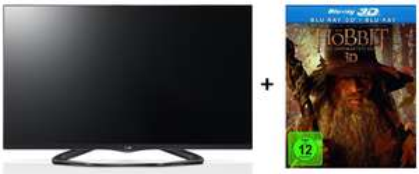 LG 42LA6608 (3D, LED-Backlight, WLAN, Triple-Tuner) + Der Hobbit 3D Blu-ray für 599 € statt 714 €