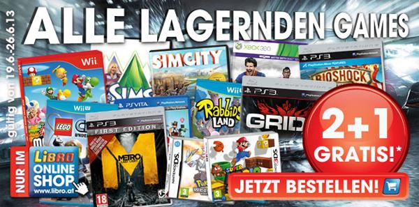 Libro: 2 Spiele kaufen, 1 gratis erhalten - auf alle lagernden Games im Online-Shop