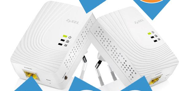 Powerline-Adapterset Zyxel PLA5205 (600 MBit/s) für 55,90 € *Update* jetzt für 52,89 € - 17% sparen
