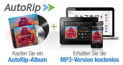 AutoRip startet bei Amazon: Kostenlose MP3s beim Kauf von CDs und Schallplatten