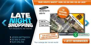 Saturn Late Night Shopping ab 20 Uhr - z.B. mit Samsung UE46F5070 (46'', Full HD, Triple-Tuner)