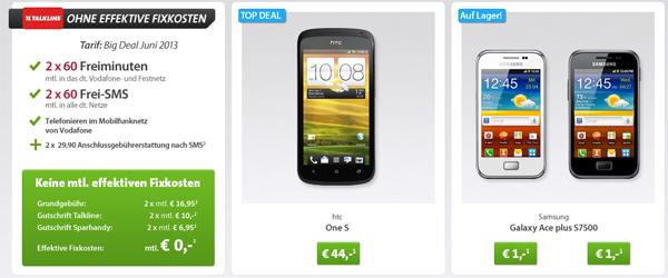 Super! HTC One S im Big Deal von Sparhandy für 44 € statt 265 € - mit Schubladenverträgen