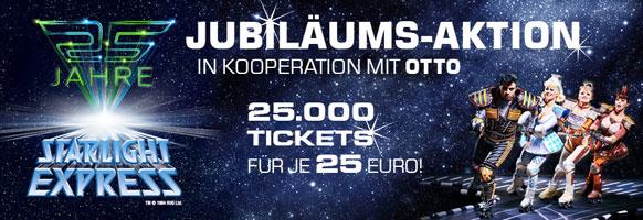 Toll: 25.000 Tickets für Starlight Express in Bochum für je nur 25 € - Aktionszeitraum 29.-30.6.
