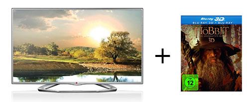 """Tagesangebot: 42"""" LG 3D-LED Fernseher (LA6136) + der Hobbit 3D für 469 Euro"""